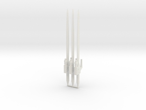 Road Swords for Brainmasters in White Natural Versatile Plastic