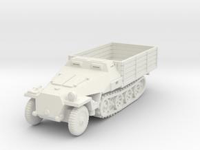Sdkfz 251 D Pritschen 1/87 in White Natural Versatile Plastic