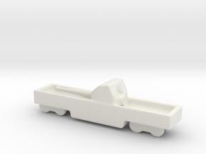 ta 152 40 1/285 6mm Italian railway artillery in White Natural Versatile Plastic