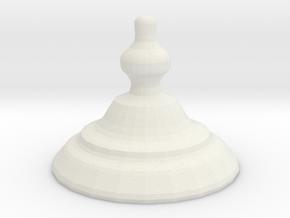 2nd half ornament in White Natural Versatile Plastic