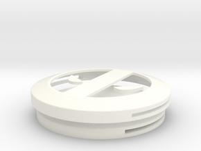 Deadpool Belt Buckle in White Processed Versatile Plastic