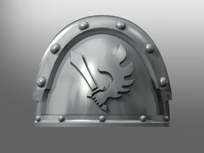 Metallus ptrn shoulder pads: Angels of the Crow in Smooth Fine Detail Plastic: Small