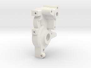TRF201/211 4 Gear Short Laydown Gearcase Left Hand in White Natural Versatile Plastic