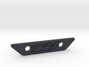 flat footpeg plate - fz1 logo in Black PA12