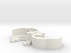 SCX24 Tiny Brushless motor plate x2 in White Natural Versatile Plastic
