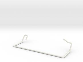 Skateball Shooter Lane Gate Wire in White Natural Versatile Plastic