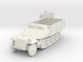 Sdkfz 251 D Pritschen Flak 38 1/120 in White Natural Versatile Plastic