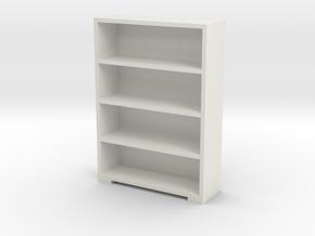 Bookshelf 1/56 in White Natural Versatile Plastic
