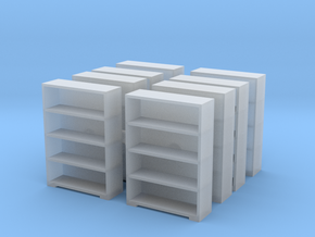 Bookshelf (x8) 1/144 in Smooth Fine Detail Plastic