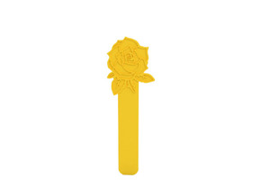 Bookmark in Yellow Processed Versatile Plastic
