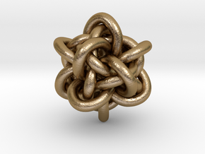 """Gordian Knot 1"""" in Polished Gold Steel"""