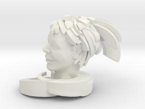 """Swoosh 3"""" in White Natural Versatile Plastic"""