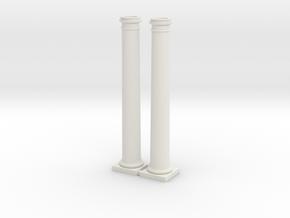 2 Columns-- 88mm high in White Natural Versatile Plastic