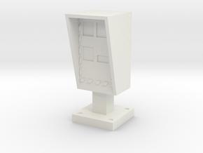 Speed Radar 1/43 in White Natural Versatile Plastic