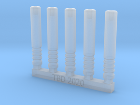 Bolt Rifle Suppressors 4 Rings x5 in Smoothest Fine Detail Plastic