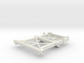Rear Center Brace w Wing,Bumper, Sway Mount Exo Te in White Natural Versatile Plastic