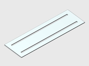Crosswalk Template - Standard in White Natural Versatile Plastic: 1:87 - HO