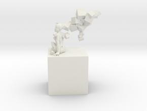 Elaine Cubed  in White Natural Versatile Plastic