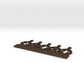 Gotisch belhek in Polished Bronze Steel