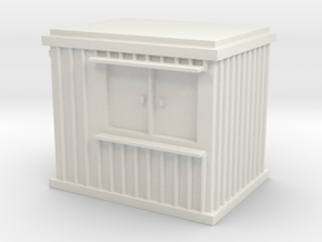 10 ft Office Container 1/100 in White Natural Versatile Plastic