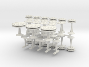 MicroFleet Order for imperiousleader1, batch 1 in White Natural Versatile Plastic