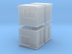 10 ft Office Container (x4) 1/285 in Smooth Fine Detail Plastic