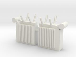 Power Substation (x2) 1/100 in White Natural Versatile Plastic