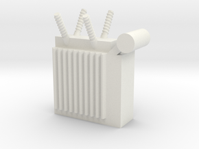 Power Substation 1/87 in White Natural Versatile Plastic