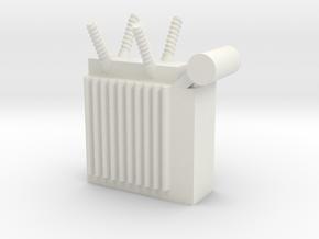 Power Substation 1/76 in White Natural Versatile Plastic