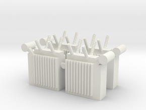 Power Substation (x4) 1/160 in White Natural Versatile Plastic