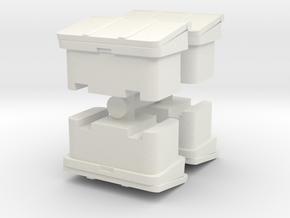 Large SOS Sand Bin (x4) 1/87 in White Natural Versatile Plastic