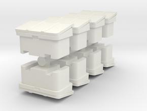 Large SOS Sand Bin (x8) 1/144 in White Natural Versatile Plastic