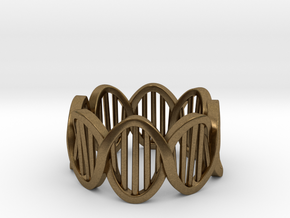 DNA Ring (Size 4) in Natural Bronze