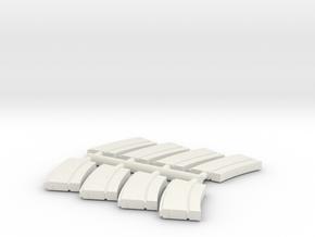 8 x 1/35 IJN Type 93 13mm magazine  in White Natural Versatile Plastic
