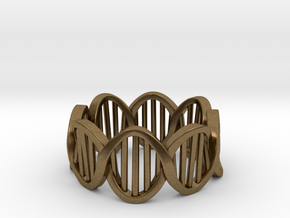 DNA Ring (Size 6) in Natural Bronze