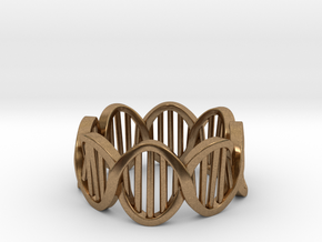 DNA Ring (Size 6) in Natural Brass