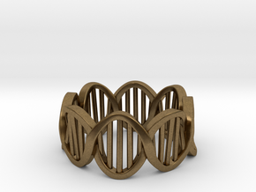 DNA Ring (Size 7) in Natural Bronze
