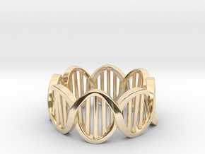 DNA Ring (Size 8) in 14K Yellow Gold