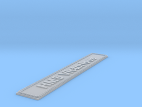 Nameplate HMS Victorious (10 cm) in Smoothest Fine Detail Plastic