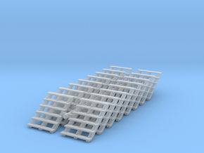 Wooden Stairs (x16) 1/160 in Smooth Fine Detail Plastic
