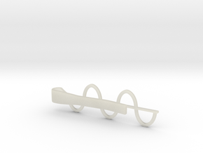 Sine Wave Tie Bar (Plastics) in White Strong & Flexible
