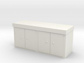 Kitchen Counter 1/64 in White Natural Versatile Plastic