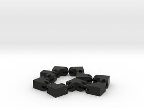 Gelenkwürfel in Black Natural Versatile Plastic