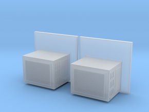 Window mounted ac unit G scale x2 in Smoothest Fine Detail Plastic