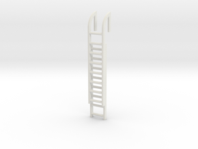 Roof Ladder 1/12 in White Natural Versatile Plastic