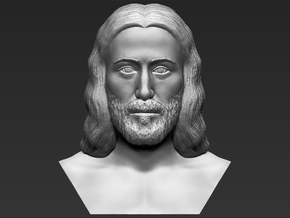 Jesus reconstruction based on Shroud of Turin  in White Natural Versatile Plastic