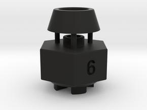 Schumacher Cat / Cougar wheel hex adaptor - 6mm in Black Strong & Flexible