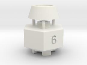 Schumacher Cat / Cougar wheel hex adaptor - 6mm in White Natural Versatile Plastic
