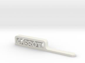 Vegetable Label Stake marker in White Natural Versatile Plastic