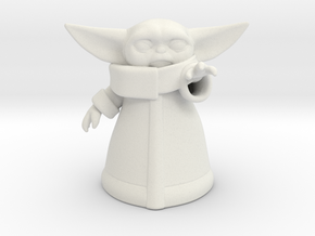 Baby Yoda (Ver.2) in White Natural Versatile Plastic
